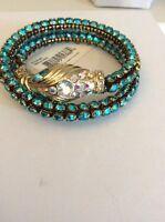 Betsey Johnson Jewelry OCEAN DRIVE BLUE SNAKE COIL BRACELET $55 BE2