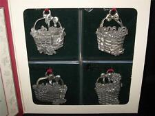 Longaberger 1995 Commemorative Basket Pewter Ornaments - Nib - Usa!