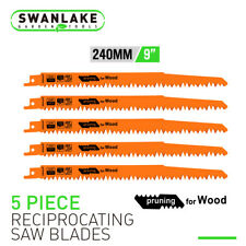 "9"" Reciprocating Saw Blades 5 Pc Set Electric Wood Pruning 5Tpi Saw Blades"