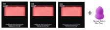 Revlon Powder Blush, 008 Racy Rose, 0.17 oz (3 Pack) + Makeup Sponge