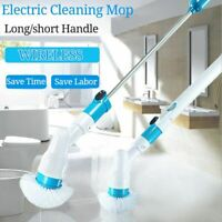 Turbo Scrub Electric Cleaning Brush Adjustable Waterproof Cleaner Charging Gift
