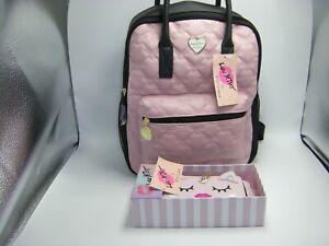 LUV BETSEY JOHNSON LB Beck Pink & Black Large & Matching Large Unicorn Wallet