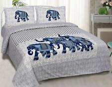 Beautiful Homes bedsheets for( Double bed with Pillow Covers Cotton) color- blue
