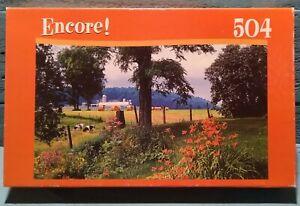 Encore Puzzle! Cedar Creek Grist Mill 504 Piece  New Sealed Box