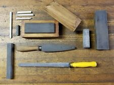VINTAGE Tools Sharpening Stones ARKANSAS Whetstone Oilstone NORTON Abrasive ☆USA