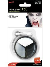 Halloween Vampiro Make Up NERO GRIGIO & BIANCHI CON APPLICATORE