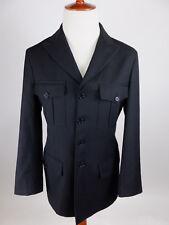 JOHN VARVATOS Italy Peaked Lapel Black Lightweight Wool Blazer Jacket Men 48