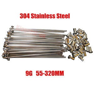55-320MM 9G Electric Bicycle E-bike Spoke & Nipple Dia.3.5MM 304 Stainless Steel