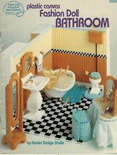 Plastic Canvas Barbie Doll Bathroom Set Tub Toilet Sink Medicine Cabinet Pattern