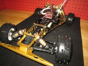 Vintage Kyosho Javelin/Optima/Salute 4WD / Celebration chassis and alloy bumper