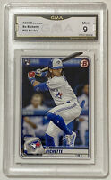 2020 Topps Bowman Bo Bichette RC Rookie Card Graded GMA 9 PSA Toronto Blue Jays