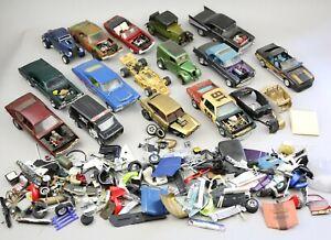 Vintage Model Kit Plastic Cars Built Parts Junkyard Stock Racing AMT Monogram