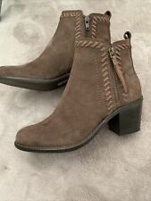 Suede Western Style Ankle Boots Size 4 (37)