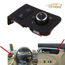Chrome Mirror Door Lock Switch Control Heating Knob For VW TOURAN CADDY LHD