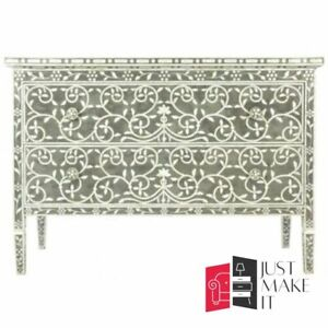 Bone Inlay Sideboard Green Floral (MADE TO ORDER)