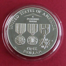 Usa 1994 p vietnam veterans memorial silver proof dollar