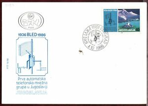 SFRY FDC 1968 First Telephone Network Yugoslavia Bled Telecommunications