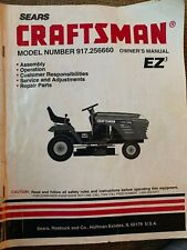 Craftsman Tractor Owners Manual model # 917.256660 English & Spanish versions