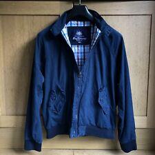 Ben Sherman Navy Blue Harrington Jacket M Medium Mod Vintage Baracuta Carnaby