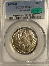 1939-D Arkansas Silver Commemorative PCGS MS-66+