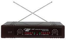 Pyle PDWM2700 Pro Dual 2 Channel VHF Wireless Microphone System 1 Mic&1 Headset