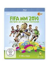 4 Blu-rays * FIFA WM 2014 - ALLE SPIELE DER DEUTSCHEN MANNSCHAFT # NEU OVP ^