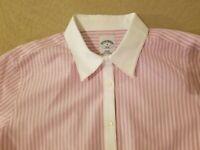 Womens Brooks Brothers Dress Shirt 8 Purple Stripes Button Cotton Blouse