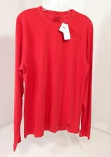 ABERCROMBIE & FITCH MEN'S GARMENT DYED LONG SLEEVE T SHIRT RED ORANGE LARGE NWT