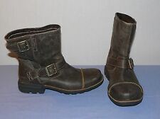 Ugg men's leather brown Rockville Australia motorcycle boots size 8  + insoles