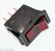 Kippschalter Wippschalter Schalter ON OFF 12V 16A Einfach Rastend rot