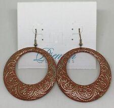 Premier Designs Jewelry Casablanca Earrings 30962 Gold Orange Boho Appliqué