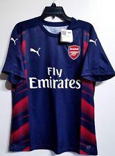 NEW Men's Puma Arsenal F.C Training Jersey Navy Blue Red Soccer Shirt Size Large