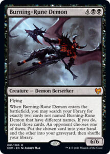 Burning-Rune Demon x1 Magic the Gathering 1x Kaldheim mtg card