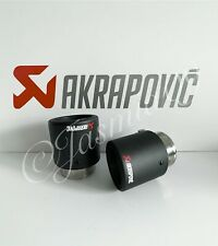 "2.25"" 57MM 1x AKRAPOVIC 3.5"" MATTE ROLLED CARBON EXHAUST TIP VW AUDI BMW SEAT MG"