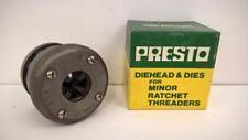 "New Presto Ratchet Diehead & Dies for Minor Ratchet Threader 1/4"" BSP 151-1 *"