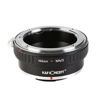 K&F Concept Adapter for Nikon F Mount Lens to Micro 4/3 M4/3 Mount G3 GH New