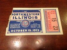 1932 Northwestern Illinois Illini Football October 15,1932 Ticket BIG TEN