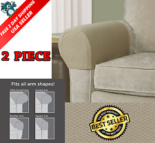 Sofa Arm Protectors Armrest Covers Stretchy Set Stretch to Fit Chair 2pcs Set