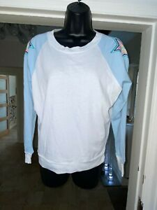 WILDFOX BLUE AND WHITE TOP SIZE SMALL