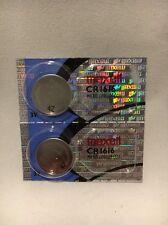 2 MAXELL HOLOGRAM CR1616 MICRO LITHIUM BATTERIES USA SELLER FREE SHIPPING