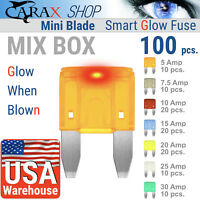 Fuse MINI blade smart fuse mix ATM ATO ATC CAR LED GLOW WHEN BLOWN