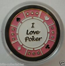 I LOVE POKER Spinner Poker Card Guard Cover Protector