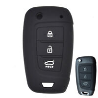 Silicone Remote Key Fob Cover Case For  Hyundai Kona Tucson Azera i30 i40 2018-