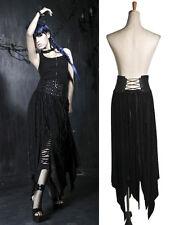 Jupe longue taille haute gothique punk lolita destroy fashion laçage Punkrave