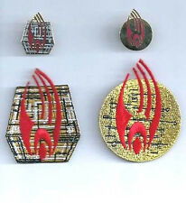 Star Trek BORG Collective Logo Patch & Pin Set of 4- 2 Patches/2 Pins