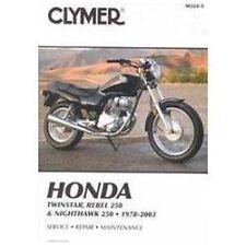 1978-2003 Honda 250 CM250 Rebel Twinstar Nighthawk Repair Manual 2002 2001 M3245