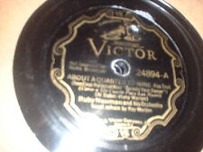 78RPM Victor 24894 Ruby Newman, About a 1/4 to 9/Little Picture Playhouse in sV-