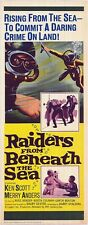 DEEP SEA SCUBA DIVING original 1965 movie poster  RAIDERS FROM BENEATH THE SEA
