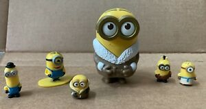 Lot of 6 Figures Despicable Me Minion Mini Figure Thinkway Toys Universal