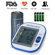 Fully Automatic Upper Arm Digital Blood Pressure Monitor BP Cuff Meter Machine